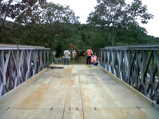 Colocación del piso puente